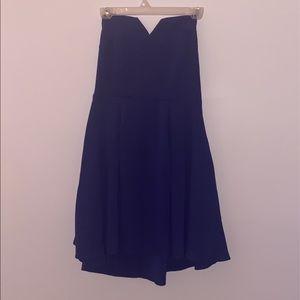 NWT Strapless Navy Dress sz M
